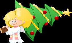 christmas tree carrying angel